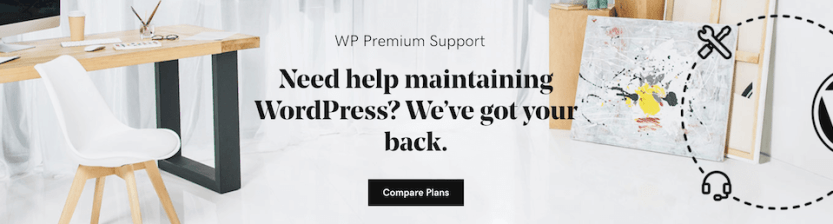 The WP Curve home page.