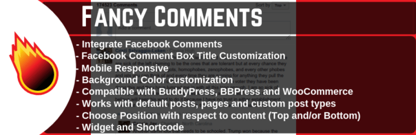 The Fancy Facebook Comments plugin