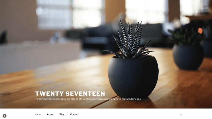 The Twenty Seventeen theme.