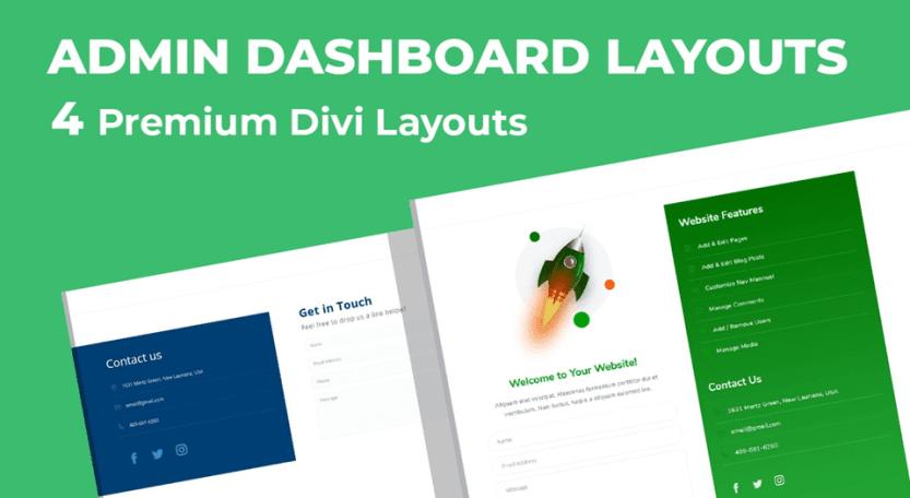 admin dashboard layouts
