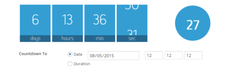 Waiting: One-click countdowns