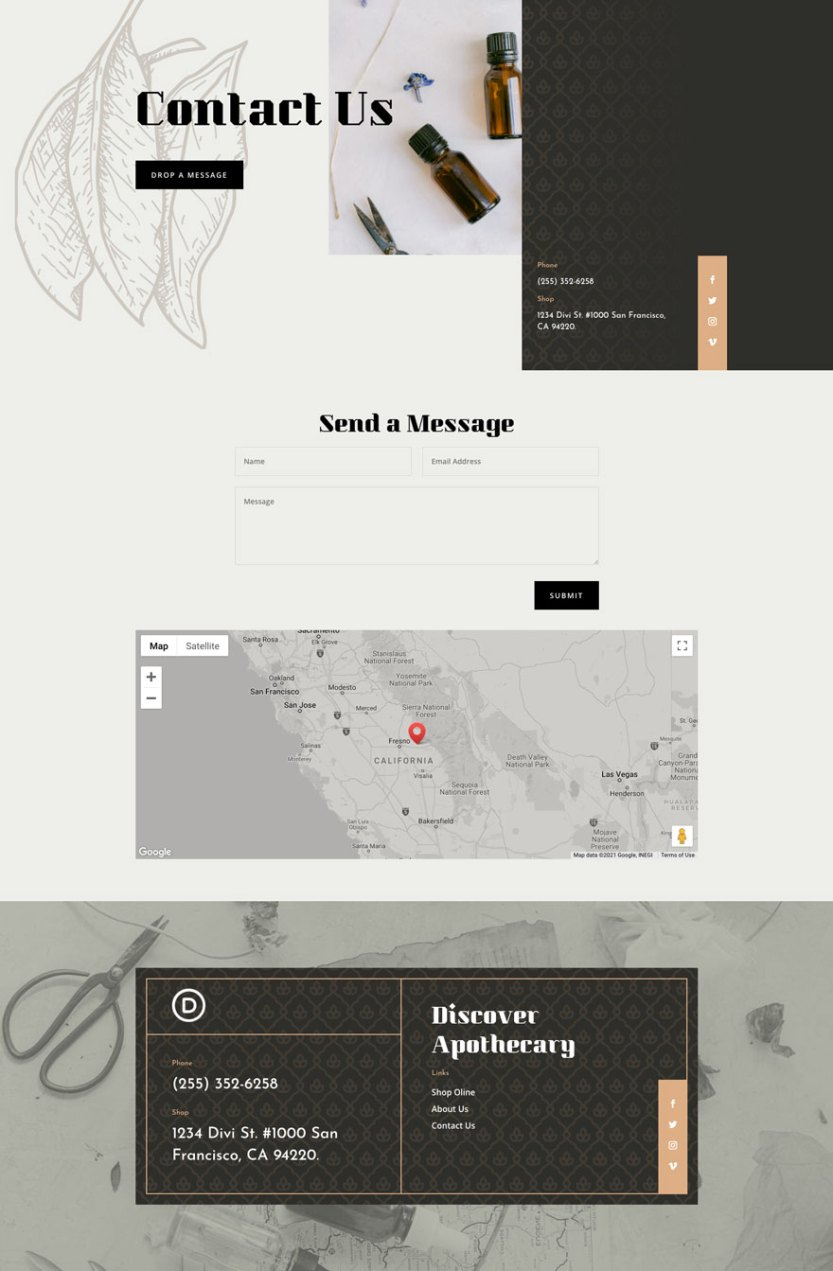 divi apothecary layout pack