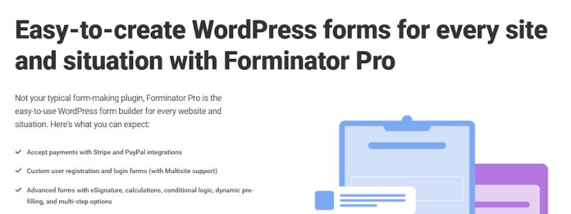 The Forminator Pro plugin.