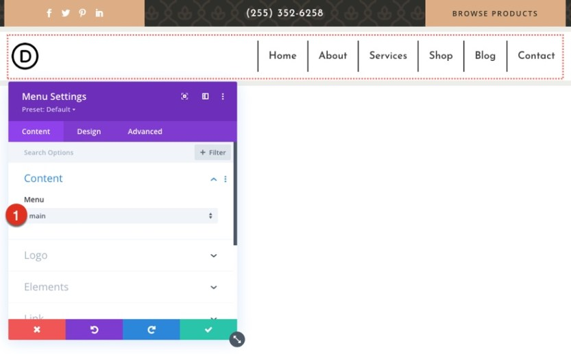 global header and footer for Divi's apothecary layout pack