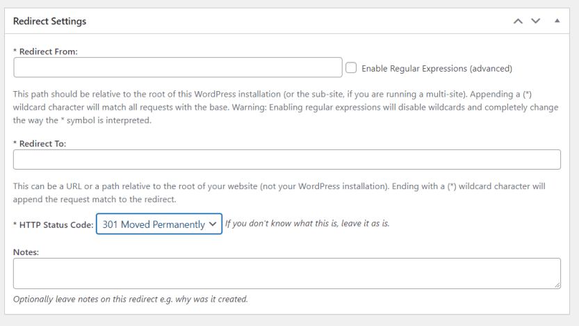 Using the Safe Redirect Manager plugin
