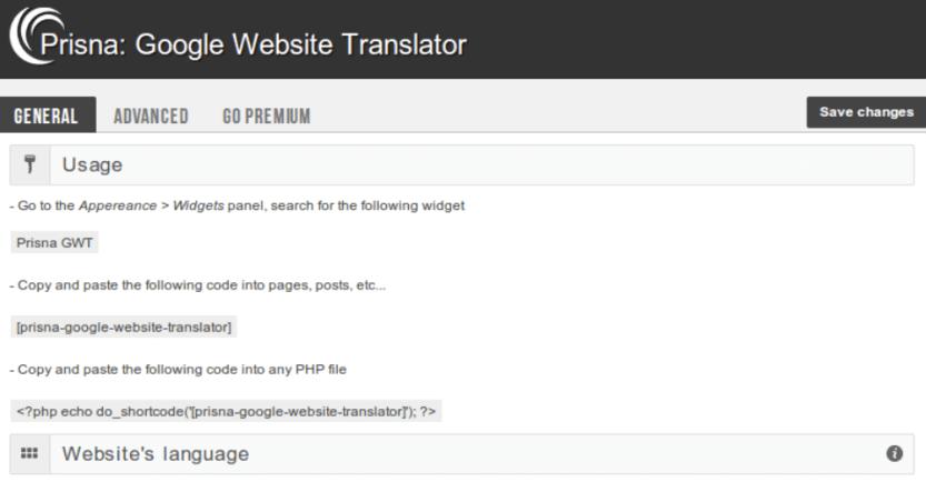 google translate wordpress plugin