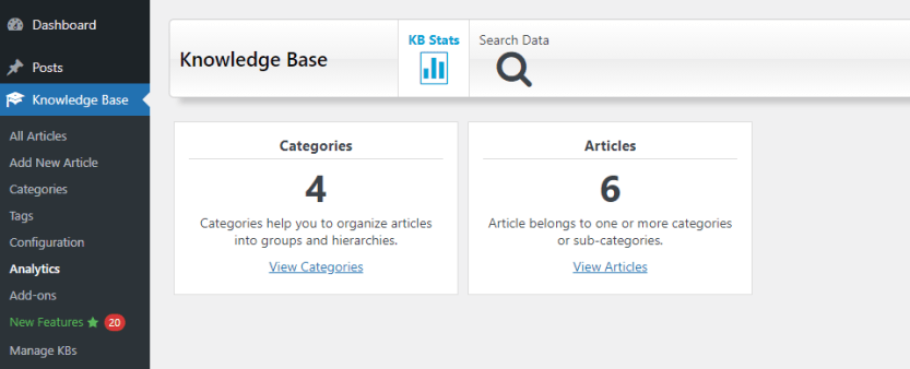 Knowledge Base for Documentation and FAQs