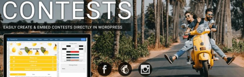 The Contests by Rewards Fuel WordPress plugin.