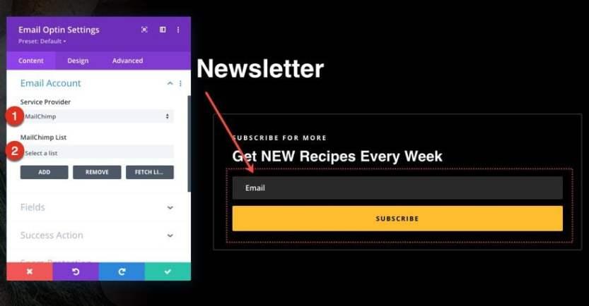 divi meal kit blog post template