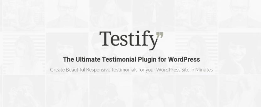 The Testify Testimonial Carousel extension.