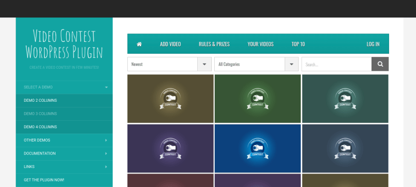 The Video Contest WordPress plugin.