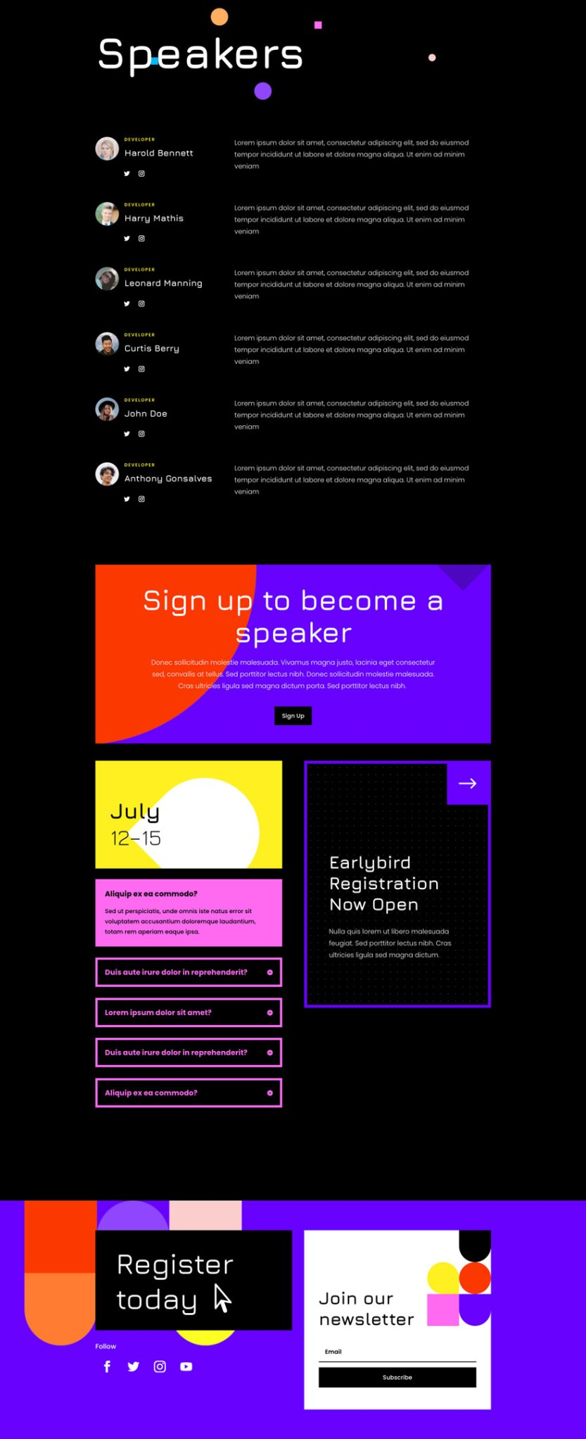 divi virtual conference layout pack