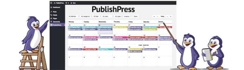 The PublishPress Editorial Calendar plugin, one of the best WordPress plugins for bloggers.
