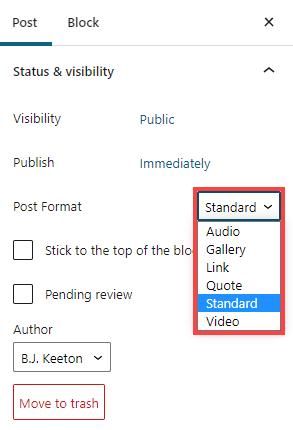 post templates