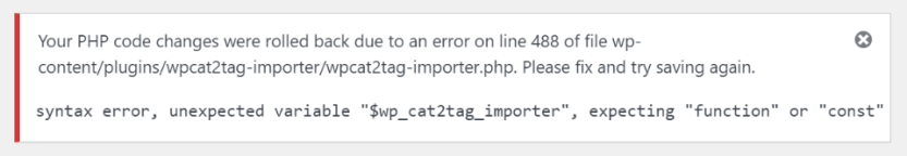 Editing Plugin Code