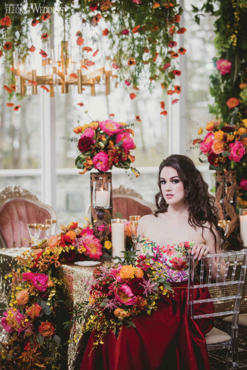 Mystical Red Wedding Theme  ElegantWeddingca