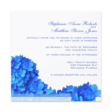 Blue Hydrangea Wedding Invitations Elegantweddinginvites