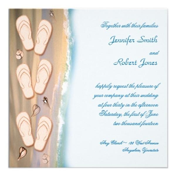 Seal And Send Beach Wedding Invitations