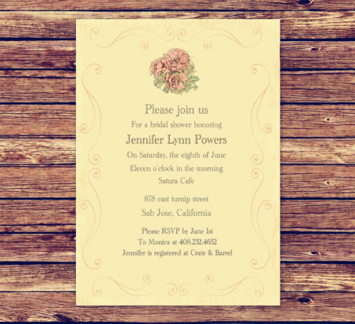 Most Popular Bridal Shower Invitations