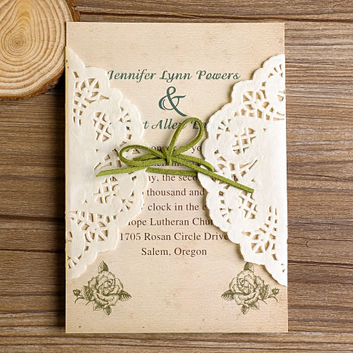 Affordable Vintage Wedding Invitations