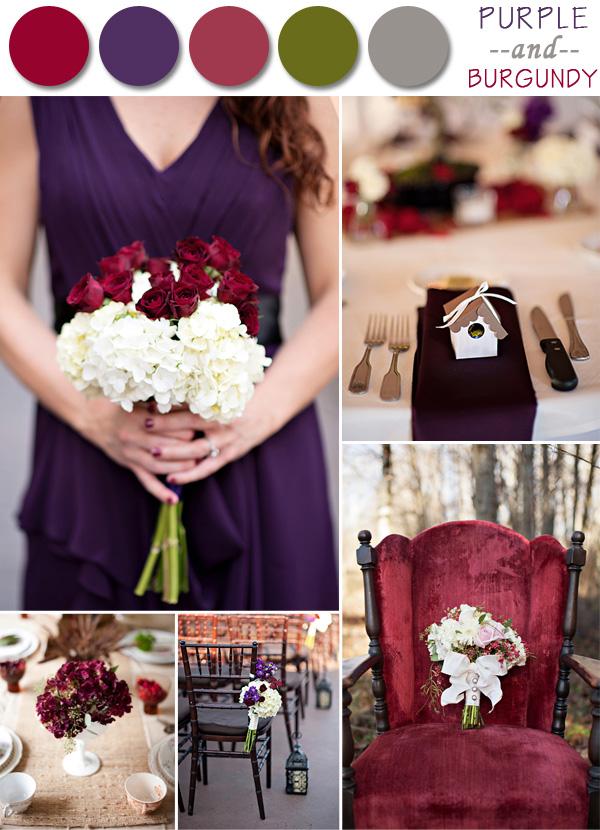 Fall Purple Wedding Colors