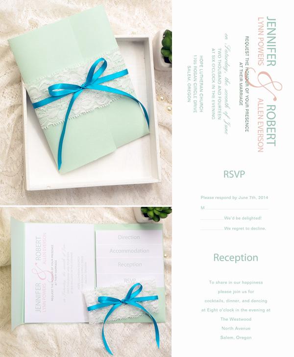 Wedding Invitations With Pockets