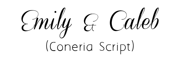 Popular Fonts For Wedding Invitations: Wedding Invitation Script Font