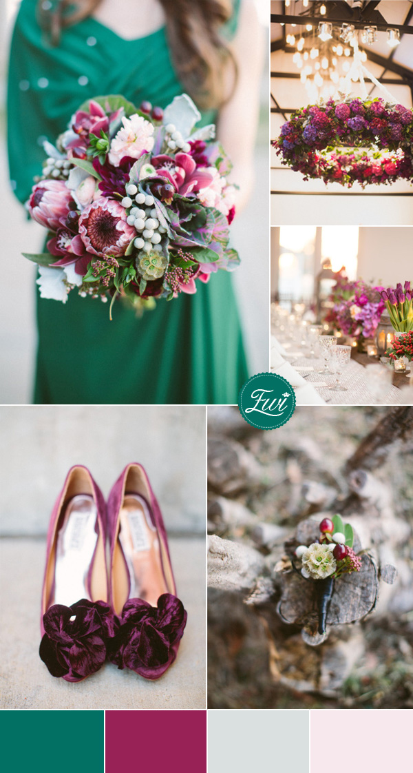 5 Adorable Jeweltoned Wedding Color Ideas for 2015
