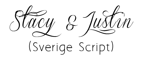 Good Font Combinations For Wedding Invitations: Wedding Invitation Script Font