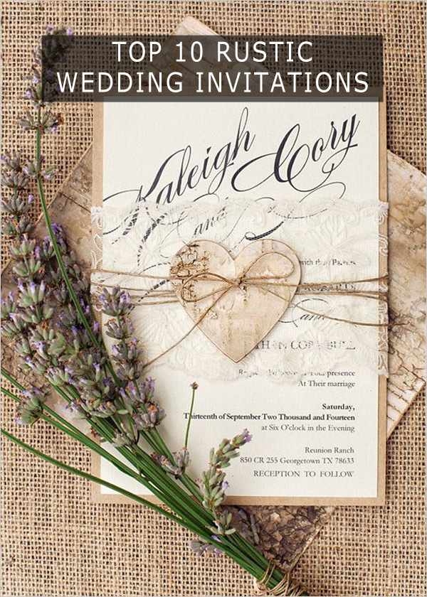 Rustic Wedding Invitations To Wow