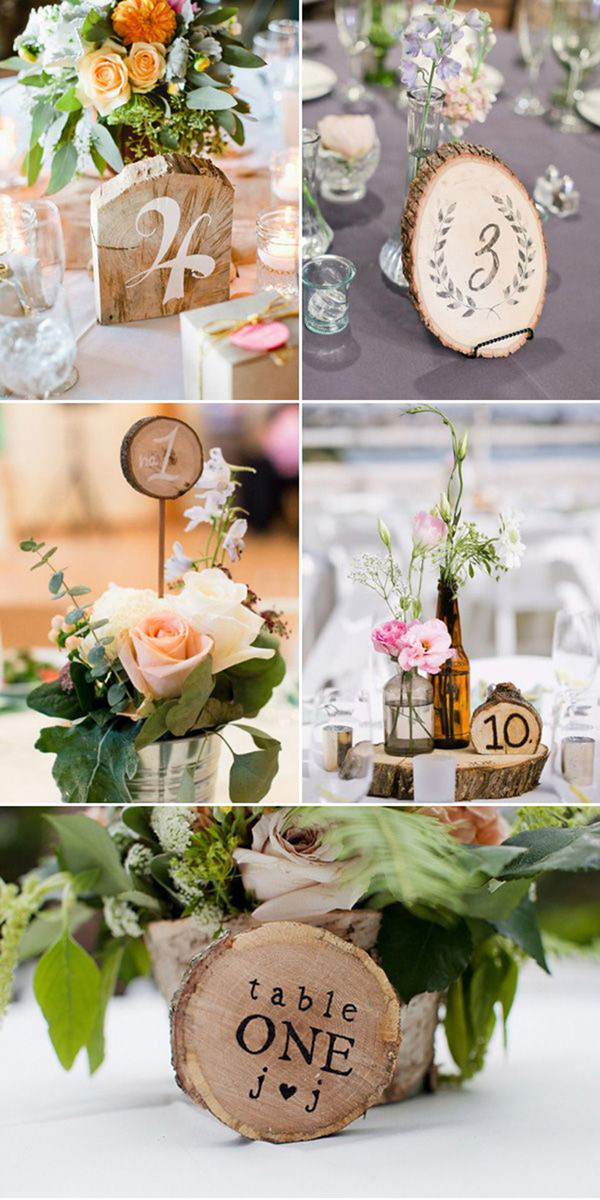 Top 10 DIY Wedding Table Number Ideas with Tutorials  Elegantweddinginvitescom Blog