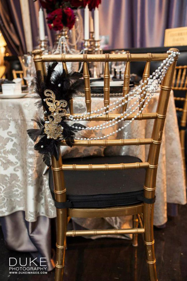 wedding decorations chairs receptions cheap recliner chair 8 awesome and easy ways to decorate stylish decorated with pearls for vintage ideas