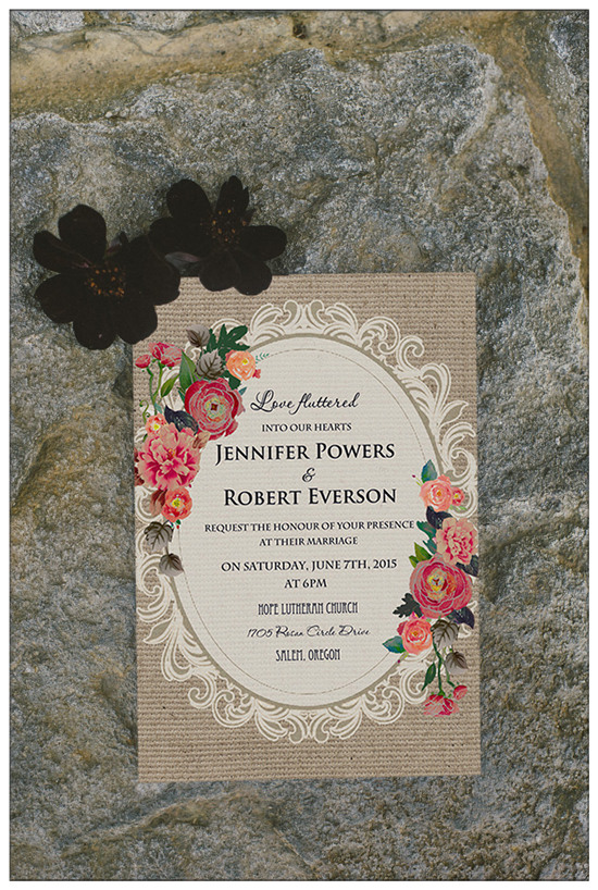 Top 10 Chic Country Rustic Wedding Invitations With Rsvp