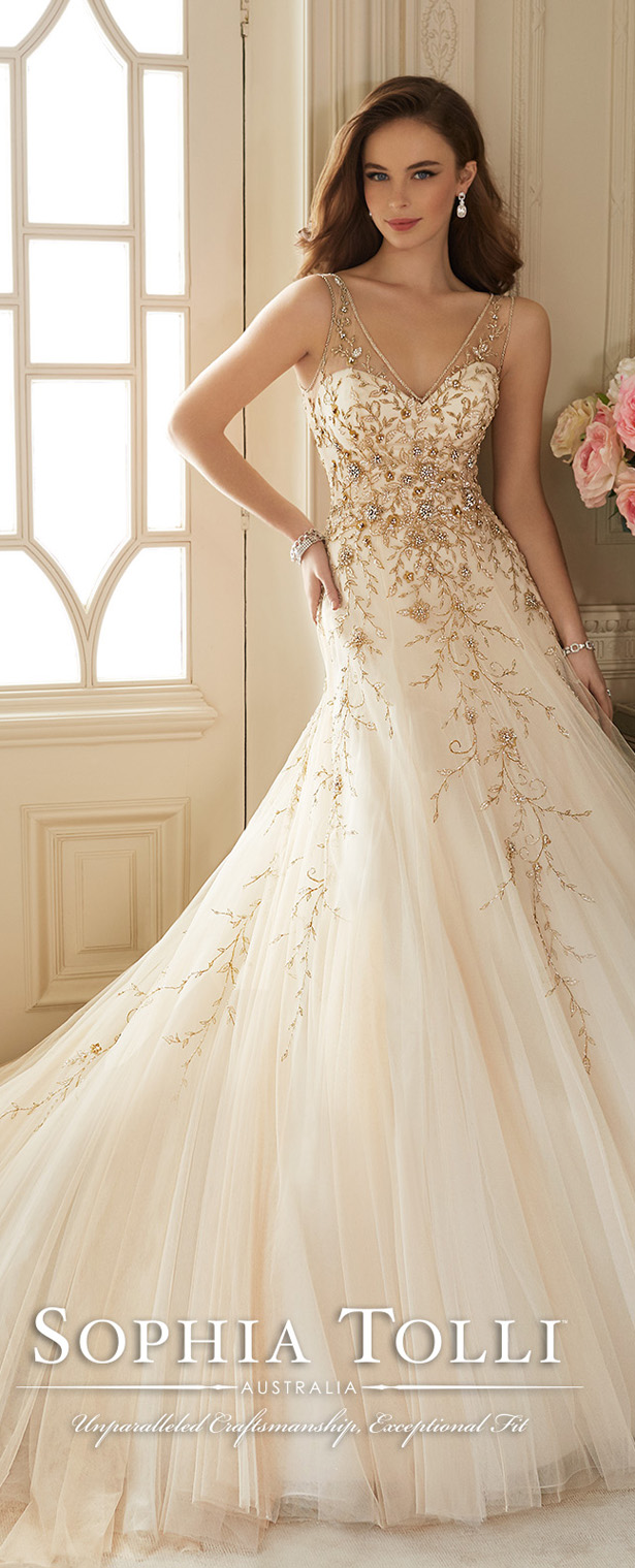 Sophia Tolli Wedding Dresses Spring 2016 Bridal Collection  Elegantweddinginvitescom Blog