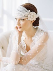 prettiest lace bridal hairpieces