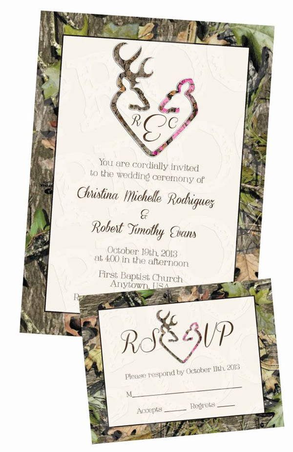 Camouflage Wedding Invitations
