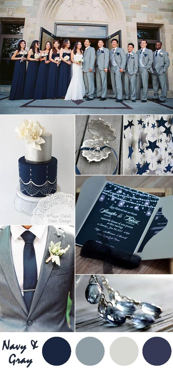 Ten Most Gorgeous Navy Blue Wedding Color Palette Ideas For 2016  Elegantweddinginvitescom Blog
