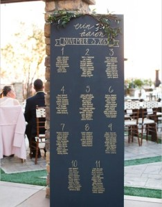 Easy to read chalkboard seating chart with handwritten names also most popular ideas for your wedding day rh elegantweddinginvites