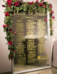 Wedding mirror seating chart ideas also most popular for your day rh elegantweddinginvites