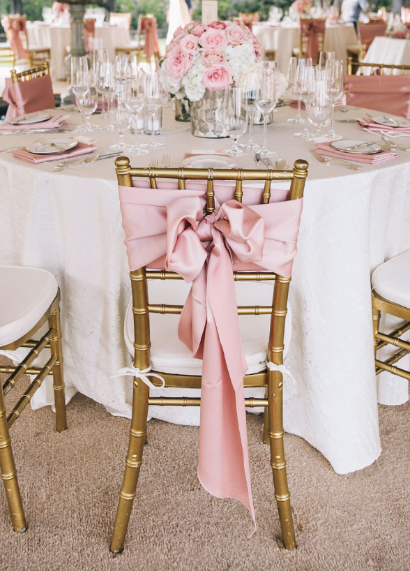 coral sashes for wedding chairs rapunzel table and tower 20 creative diy chair ideas with satin sash – elegantweddinginvites.com blog