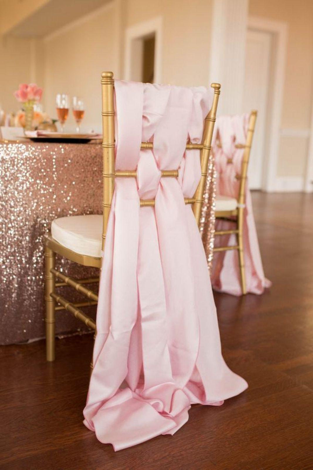 blush chair sashes caravan canopy folding chairs 20 creative diy wedding ideas with satin sash