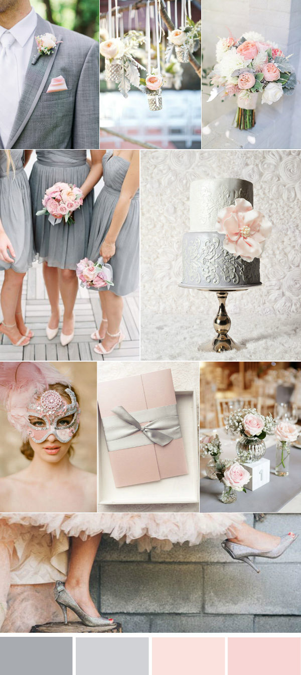 Five Beautiful Wedding Colors In Shades of Grey