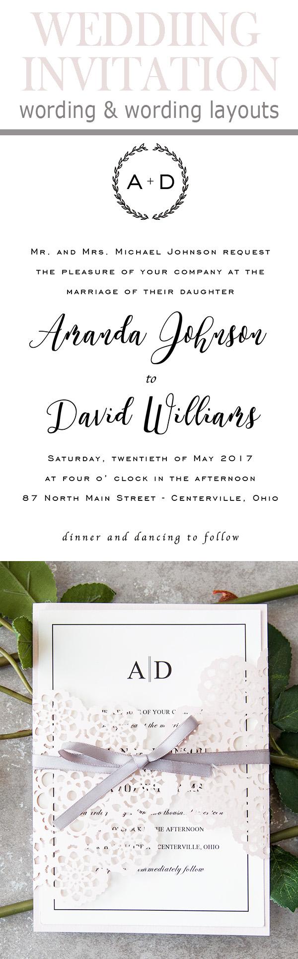 20 Por Wedding Invitation Wording Diy Templates Ideas
