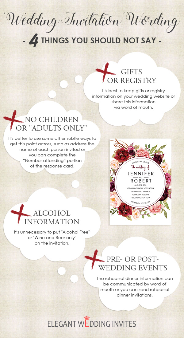 Wedding Invitation Wording 4 Things