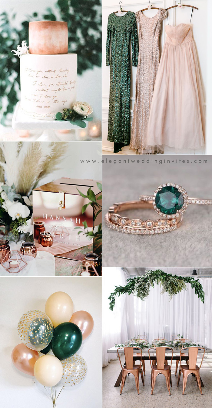 2021 Wedding Trends Chic Rose Gold Wedding Ideas Elegantweddinginvites Com Blog