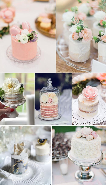 self serving mini wedding cakes