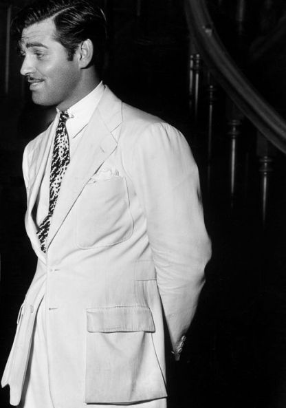 Clark Gable's linen suit by Oxxford Clothes that he wears at the start of China Seas.