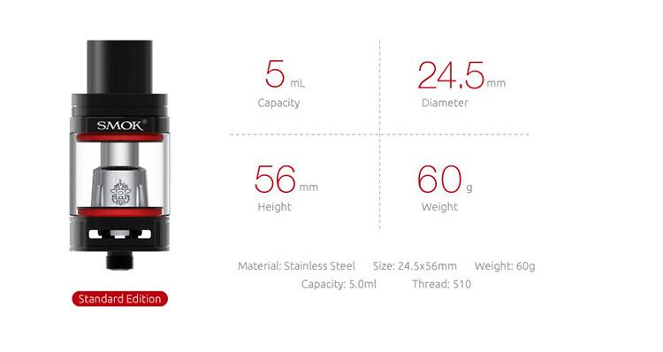 SMOK S-Priv 230W TC Kit with TFV8 Big Baby Light Edition