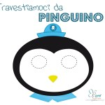 Maschera Pinguino da scaricare e colorare o stampare