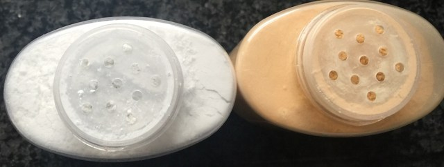 Left: Ben NYE neutral set, right: Ben NYE luxury banana powder